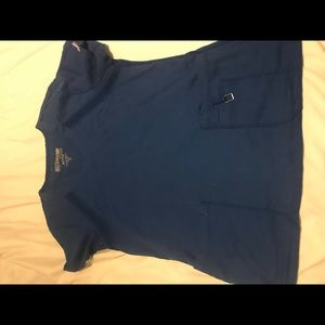 Greys Anatomy bright blue scrub set